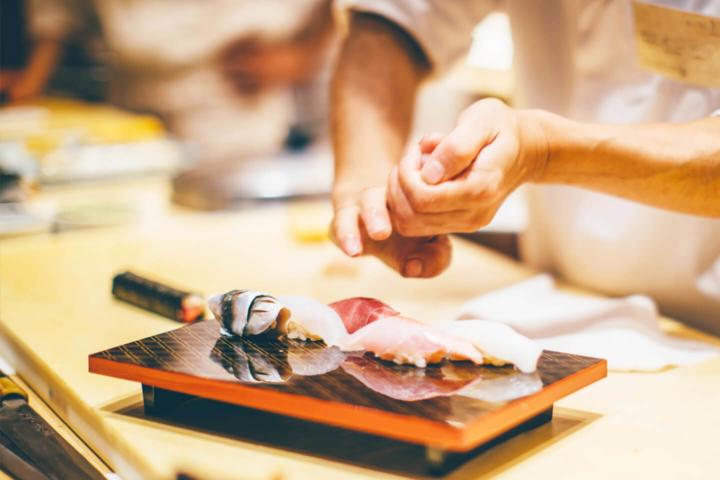 ライブ料理 にぎり寿司